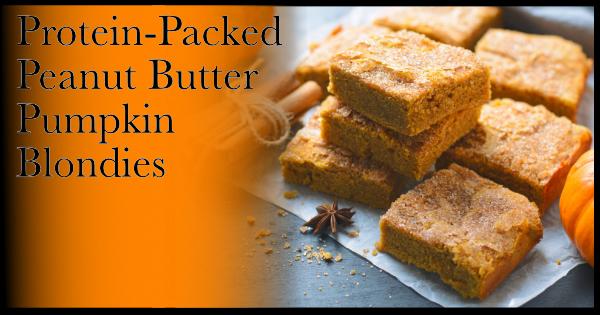 Protein-Packed Peanut Butter Pumpkin Blondies